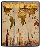World Travel Map Atlas Quote Printed Design Kindle Oasis VINYL STICKER DECAL SKIN