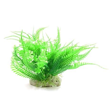 sourcingmap Verde De Plástico Acuario Betta Tanque Ornamento Decorativo De Paisaje Bajo Agua De Planta