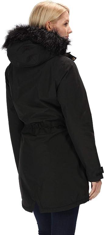 Regatta Serleena II Veste /À Capuche Femme Imperm/éable et Isolante avec Coutures Cousues-coll/ées et Poche de S/écurit/é Jackets Waterproof Insulated
