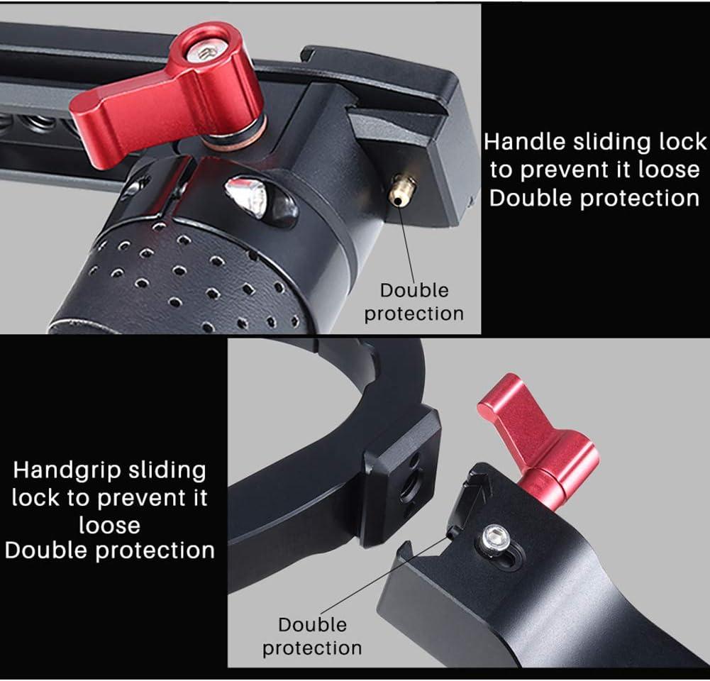 MeterMall Portable for DH13 Dual Handle Handgrip Stabilizer for DJI Ronin S//SC Camera Adjustable Extend Holder Handlebar Non-Slip Camera Gimbal