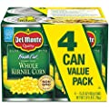 Del Monte Canned Fresh Cut Golden Sweet Whole Kernel Corn, 15.25 Ounce, Pack of 4