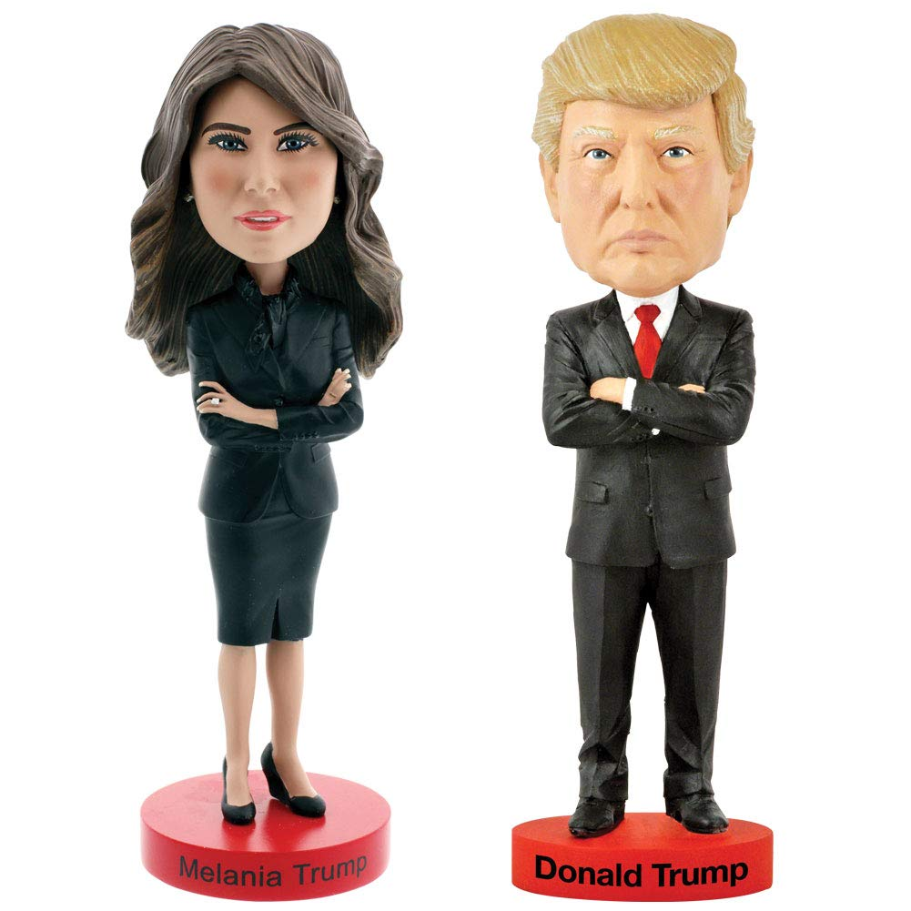 CloseoutZone (Set) US President Donald And American First Lady Melania Trump Bobbleheads