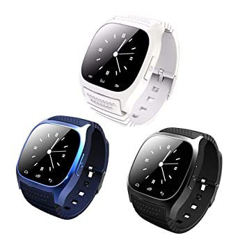 Iiloens Smart Watch,Reloj Inteligente Smartwatch para teléfonos Android Smart Bluetooth Podómetro con Pantalla táctil Impermeable Unisex Smartwatches
