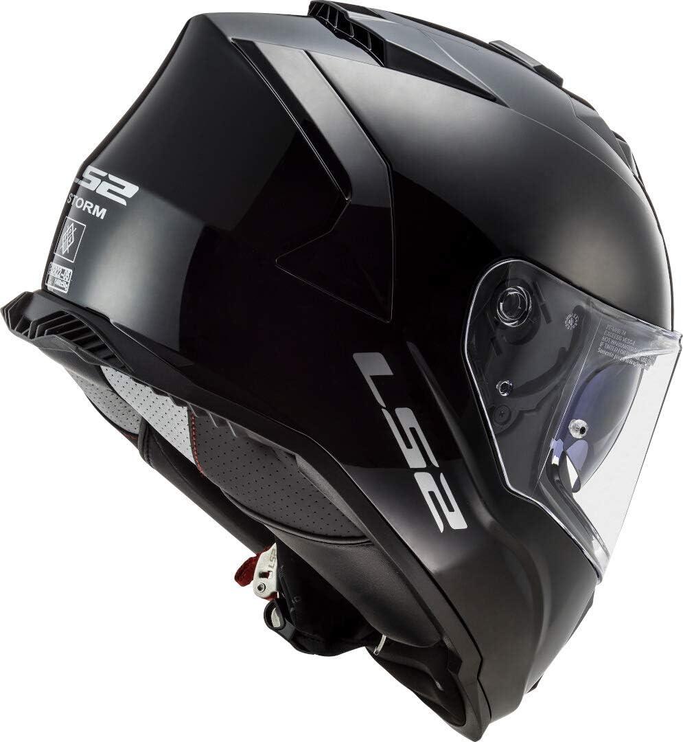 Schwarz XS LS2 Motorradhelm FF800 STORM SOLID GLOSS BLACK