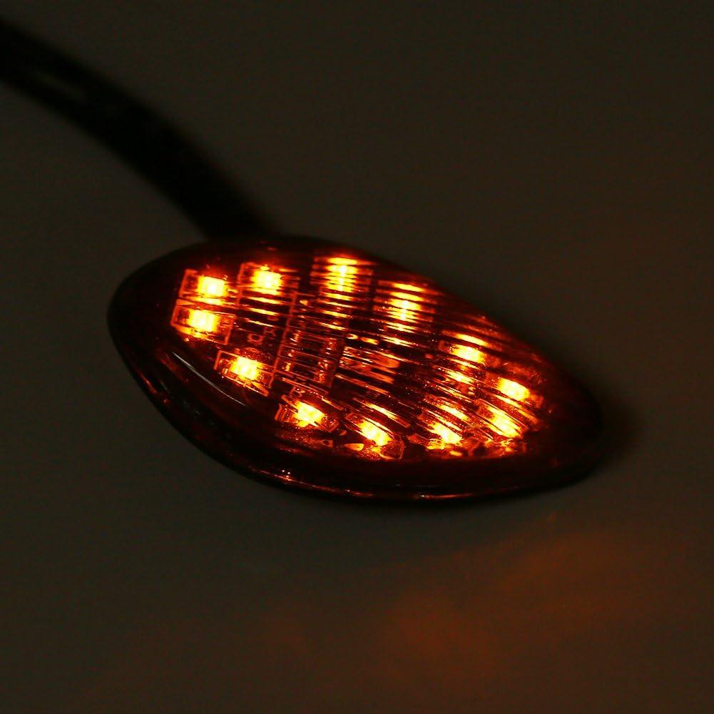 2 pcs Clignotants Moto LED 12V Lumi/ère de Clignotants Arri/ère Universel Feu Arri/ère Clignotant
