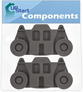 2-Pack W10195416 Lower Dishwasher Wheel Replacement for Whirlpool WDF750SAYM1 Dishwasher - Compatible with W10195416V Dishwasher Wheel - UpStart Components Brand