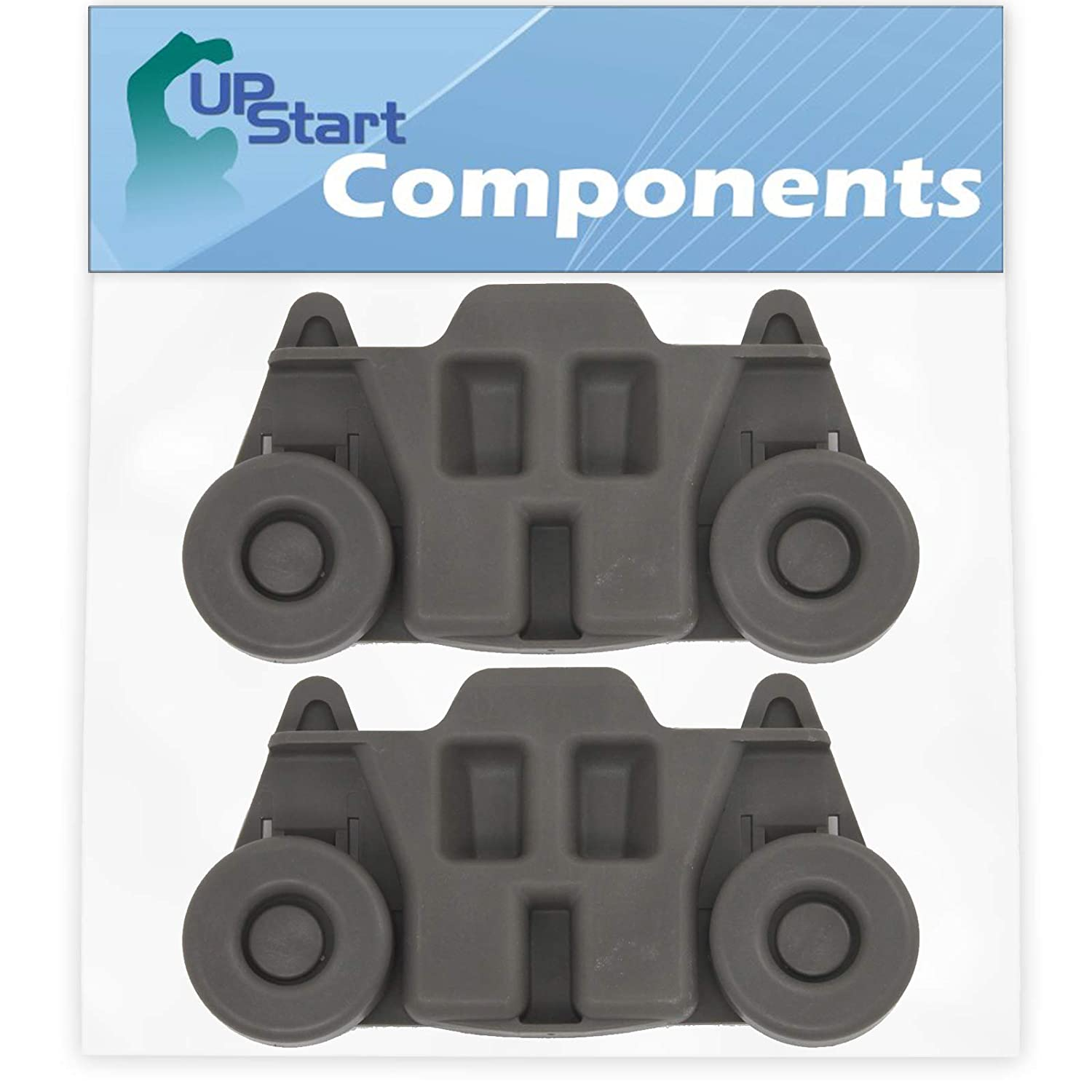 2-Pack W10195416 Lower Dishwasher Wheel Replacement for Whirlpool WDF750SAYM0 Dishwasher UpStart Components Brand Compatible with W10195416V Dishwasher Wheel