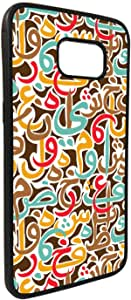 Arabic letters scattered Printed Case forGalaxy S7 Edge