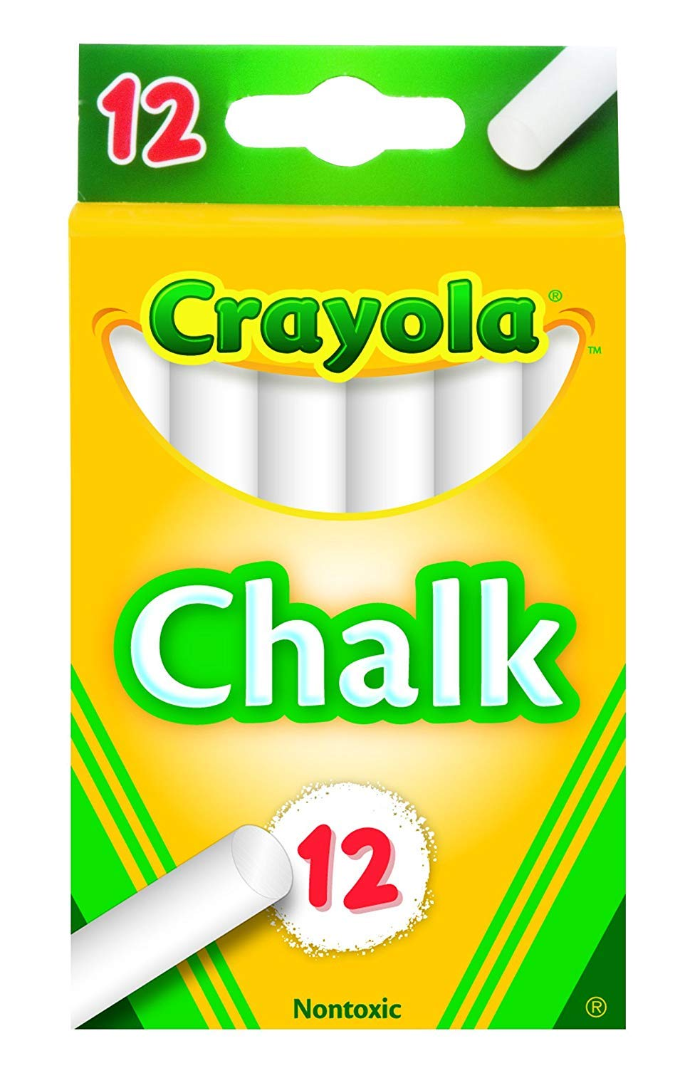 Crayola White Chalk 12 Each (51-0320) 1 White 12 pack Perfect for teaching