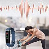 Basecamp Fitness Tracker, IP67 Waterproof Dustproof Smart Band with Heart Rate Monitor, Sleep Monitor Step Counter Activity Tracker for Women Men Kids for Android & iOS Phones