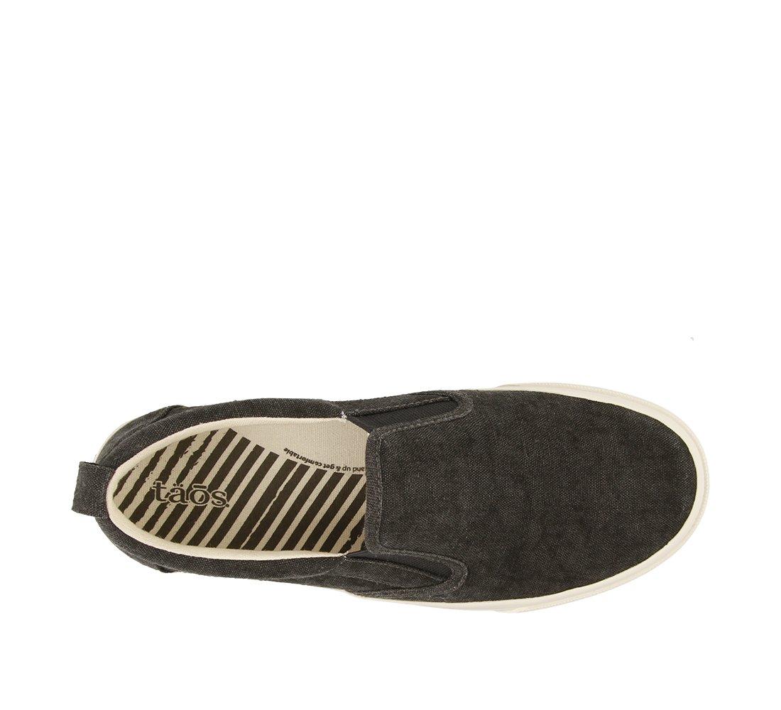 Taos Footwear Women's Rubber Soul Slip On B073MKWMSH 8 M US|Charcoal Wash Canvas