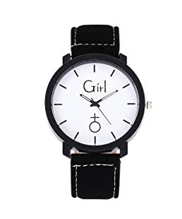 Quartz Wrist Watch,Hosamtel Simple Delicate Business Analog Watch for Couple Lovers (Black1)