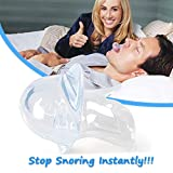 Stop Snoring Solution - Anti Snore Device, Silicone Tongue Retainer of Snoring Mouthpiece Sleep Aid, BPA and Toxin Free Snore Stopper