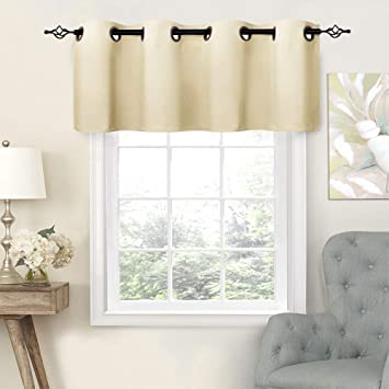 Beige Valances Bathroom Windows 16 inch Bedroom Curtain Valance Kitchen  Grommet Valance Curtains Living Room