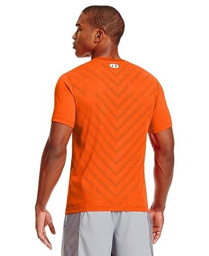 ac4e17ea Under Armour Men's HeatGear Fitted Short Sleeve XXL Outrageous Orange