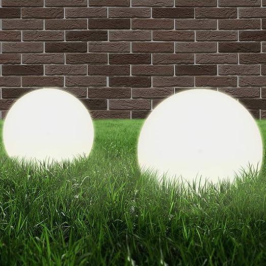 SOULONG Luz Solar Exterior Jardin,LED Exterior Solar de GloboJuego de Lámparas de Bola LED 2 Piezas Esféricas 20 cm: Amazon.es: Hogar