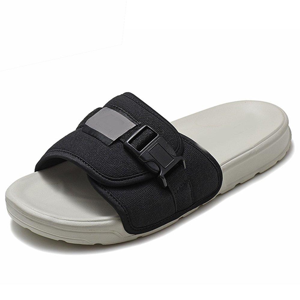 DYY Deslizador Masculino, Sandalias Que Llevan al Aire Libre de la Moda del Verano,Cenizas Negro,43 Cenizas negro