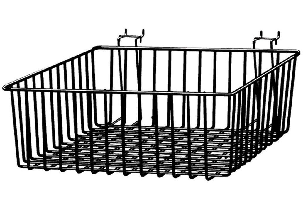 Multi Basket Slatwall Gridwall Pegboard Slatgrid 12'' W x 12''D x 4''H Retail Display Fixture Black Lot of 8 New