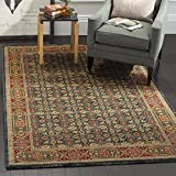 Safavieh MAH623K-8 Mahal Collection Traditional Oriental Light Blue & Red Area Rug (8' x 11')