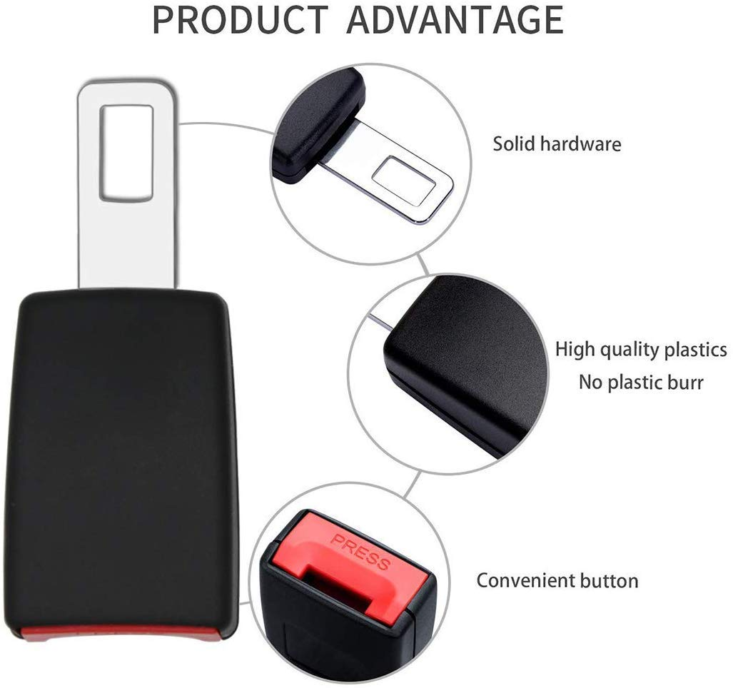 Seat Belt Extender Seat Belt Buckle Extension for cars E11 Safety Certified Suitable for Most Cars 2 Pack