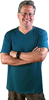 product image for Majamas Vinny V-Neck - ECO Friendly Ethically Made Short Sleeve Scoop Neck Tee Shirt Top for Men