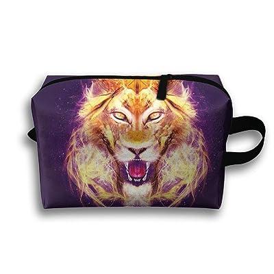 WYFG Leo Head Portable Travel Storage Bag Multi-functional Tolietry Bag