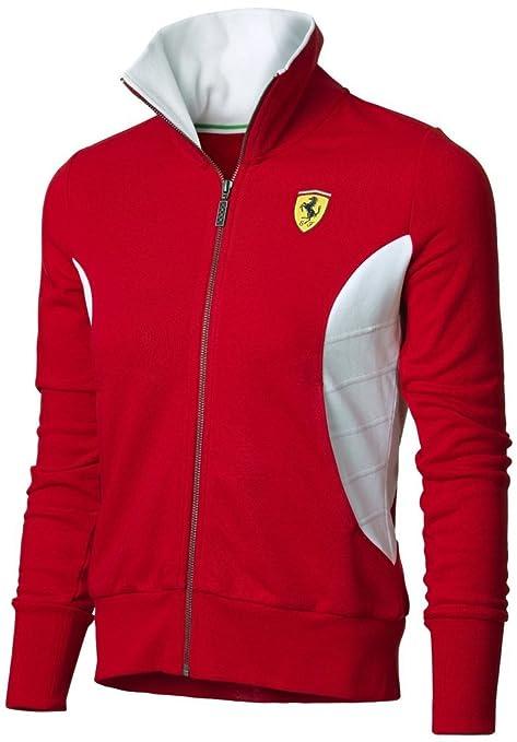 Ferrari F1 Team Mujer Cremallera Sudadera para 5300007 – 600, Rojo, Large