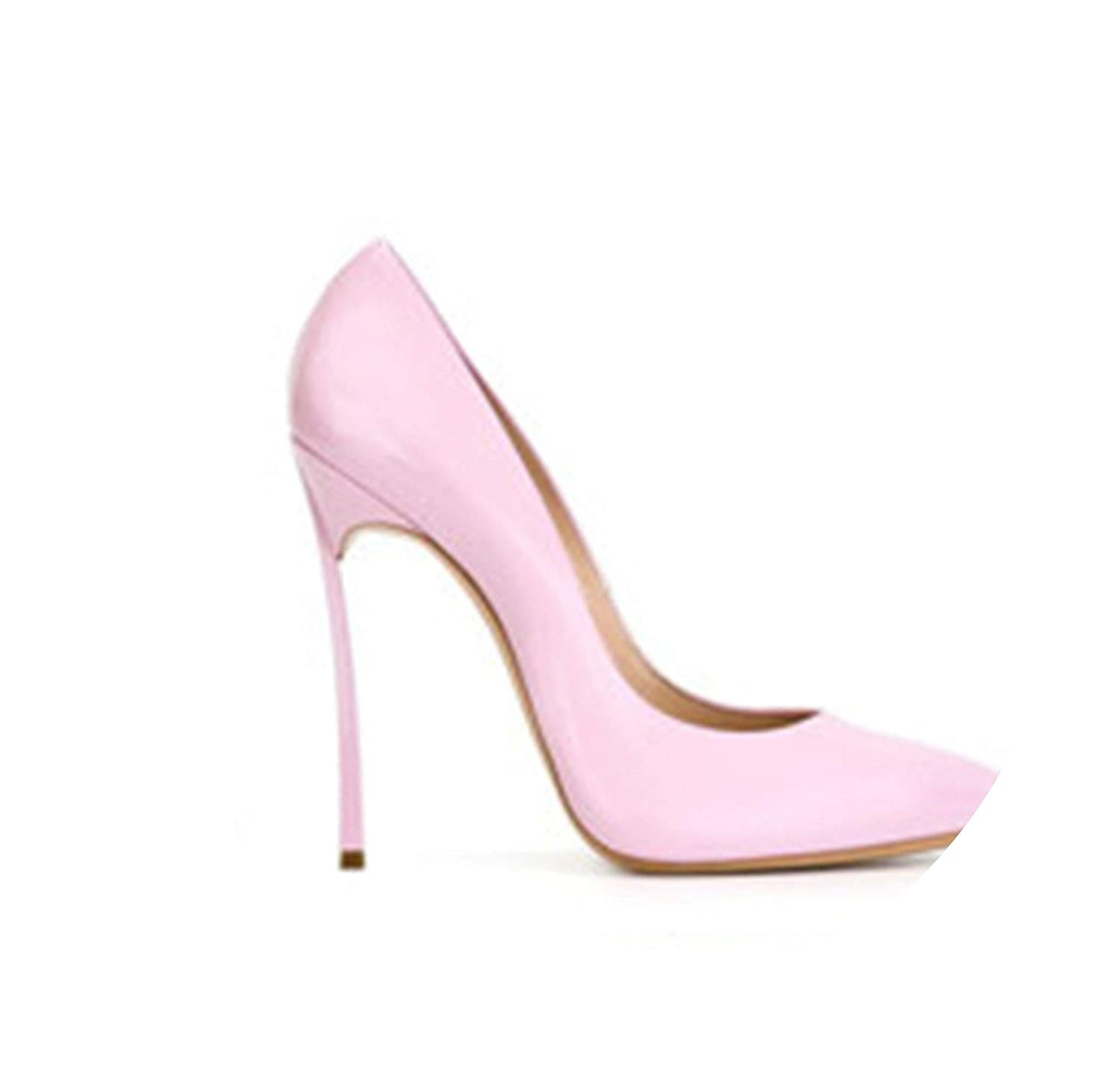 Patent light pink RAINIE002 Brand shoes Woman High Heels Women Pumps Stiletto Thin Heel Women's shoes Nude Pointed Toe High Heels Wedding shoes Size 33-43