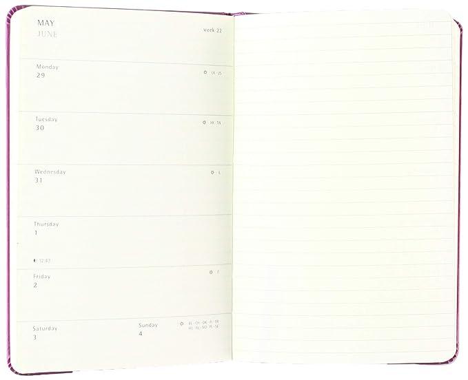 Moleskine DHF212WN3Y17 - Agenda semanal 12 meses, 13 x 21 cm, color rojo