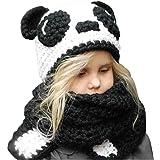 Kids Cappello a maglia con cappuccio Cappuccio Sciarpa Cappelli Inverno  Caldo Cappelli animali per ragazze Ragazzi b81d37641fb2