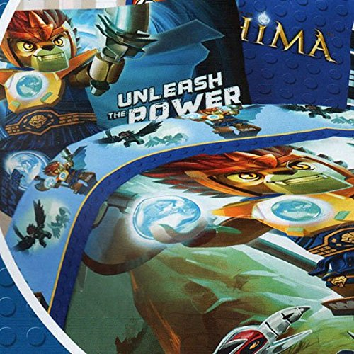LEGO Legends of Chima 5pc Full Comforter and Sheet Bedding Set Collection