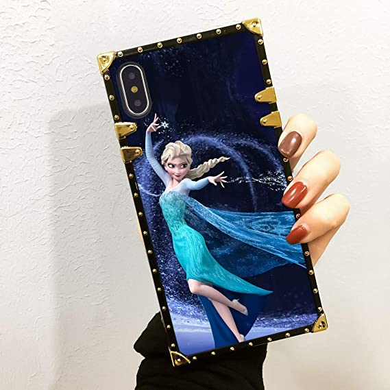 Amazon Com Disney Collection Cute Frozen Wallpaper Case For Iphone X Iphone 10 Iphone Xs Luxury Square Edges Phone Cover Shock Bumper