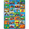 Mybecca Kids Rugs ABC Alphabet Chart Fruits for Playorom and Nursery