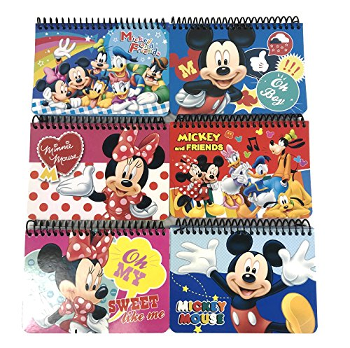 Party Favors Disney Mickey Mouse and Minnie Autograph Note pads Book- 2 pcs