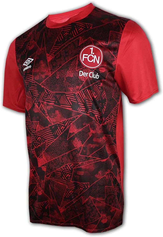 FC N/ürnberg Kinder Jacke m UMBRO 1 Kapuze rot FCN Fan Hoodie Jr Jacke Der Club