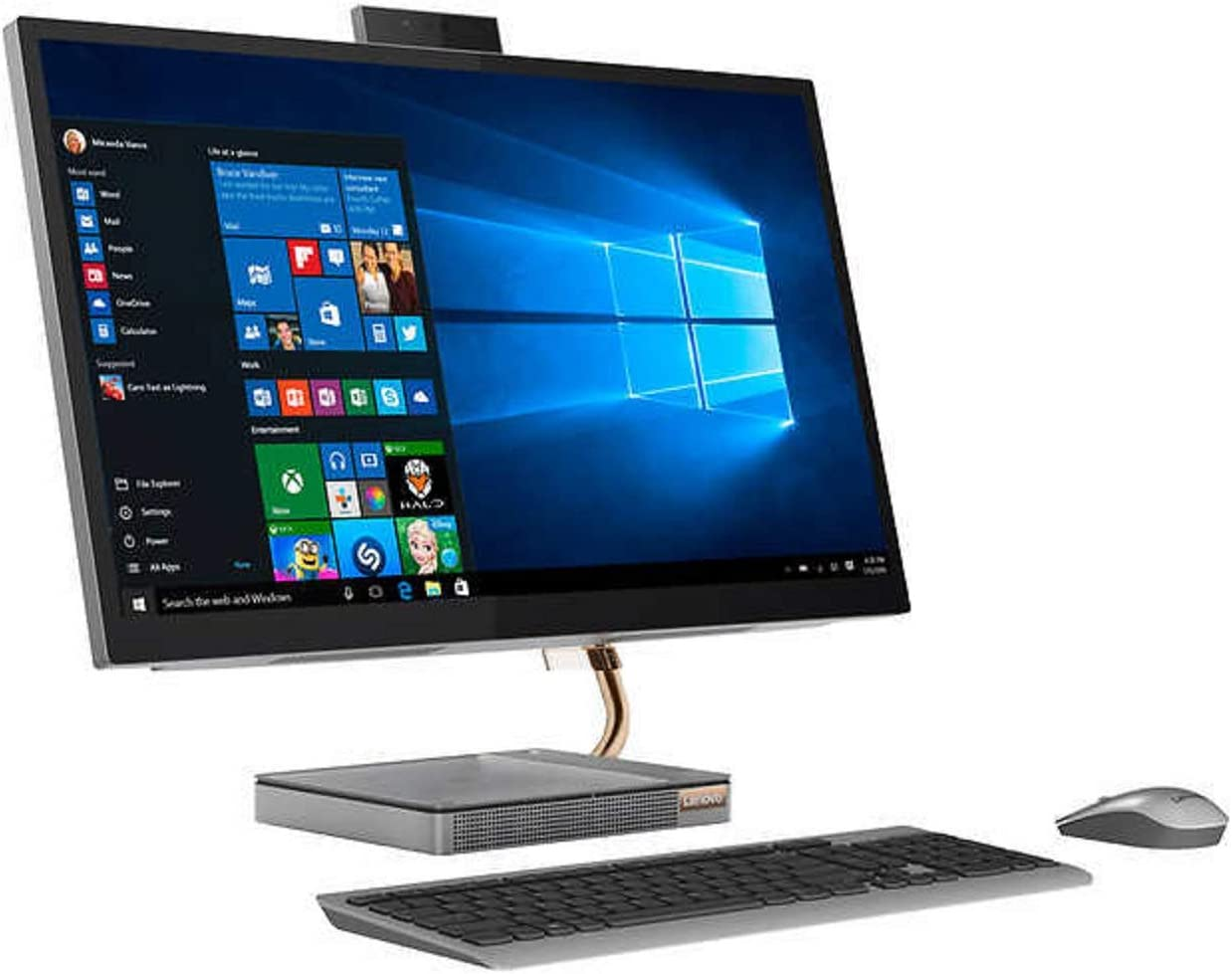 """Lenovo 27"""" QHD (2560 x 1440) Touchscreen All-in-One ideacentre A540 Desktop with Intel 8 Core i7-9700T Processor up to 4.30 GHz, 16GB DDR4 RAM (512GB SSD PCIe)"""