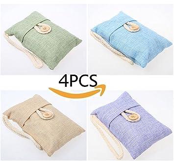 Badezimmer Feuchtigkeit Entfernen | Teerfu Bambus Anthrazit Air Purifying Tasche 4 Pack Natural Air