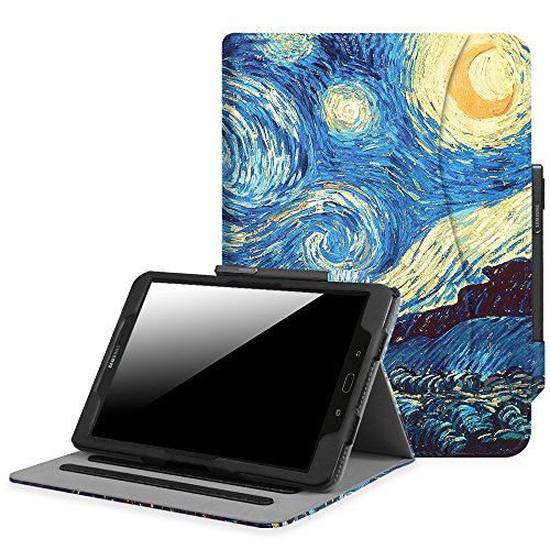 Fintie Samsung Galaxy Tab S3 9.7 Case, [Corner Protection] Multi-Angle Viewing Stand Cover Packet with S Pen Protective Holder Auto Sleep / Wake for Tab S3 9.7(SM-T820/T825/T827), Starry Night (Stand Protective Cover Case)