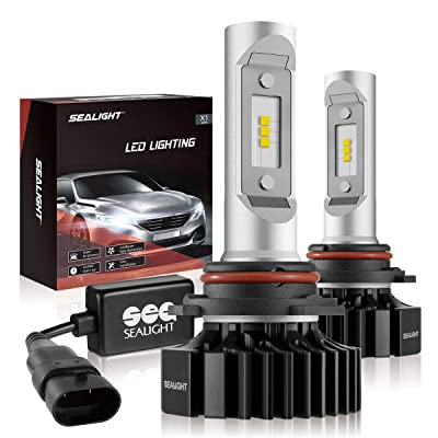 SEALIGHT 9005/HB3 LED High Beam Headlight Bulb X1 Series 9145/9140/H10 Fog Light Bulbs Xenon White 6000K Non-polarity: Automotive