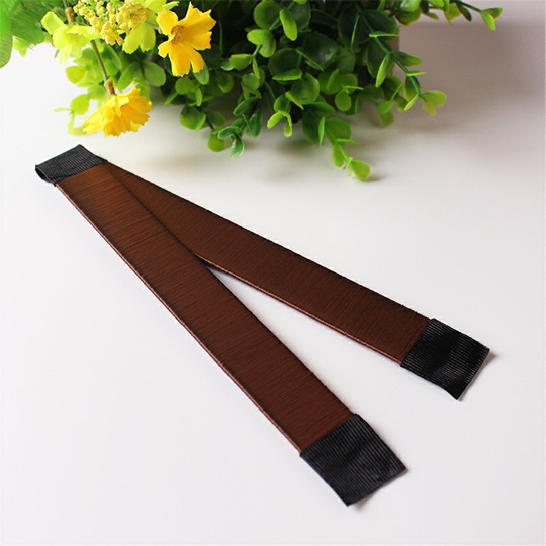 1Pc Girl Hair Styling Tools Foam French Tool DIY Hair Styling Tools Roller Styling Tool Brown 3 by HAHUHERT (Image #1)