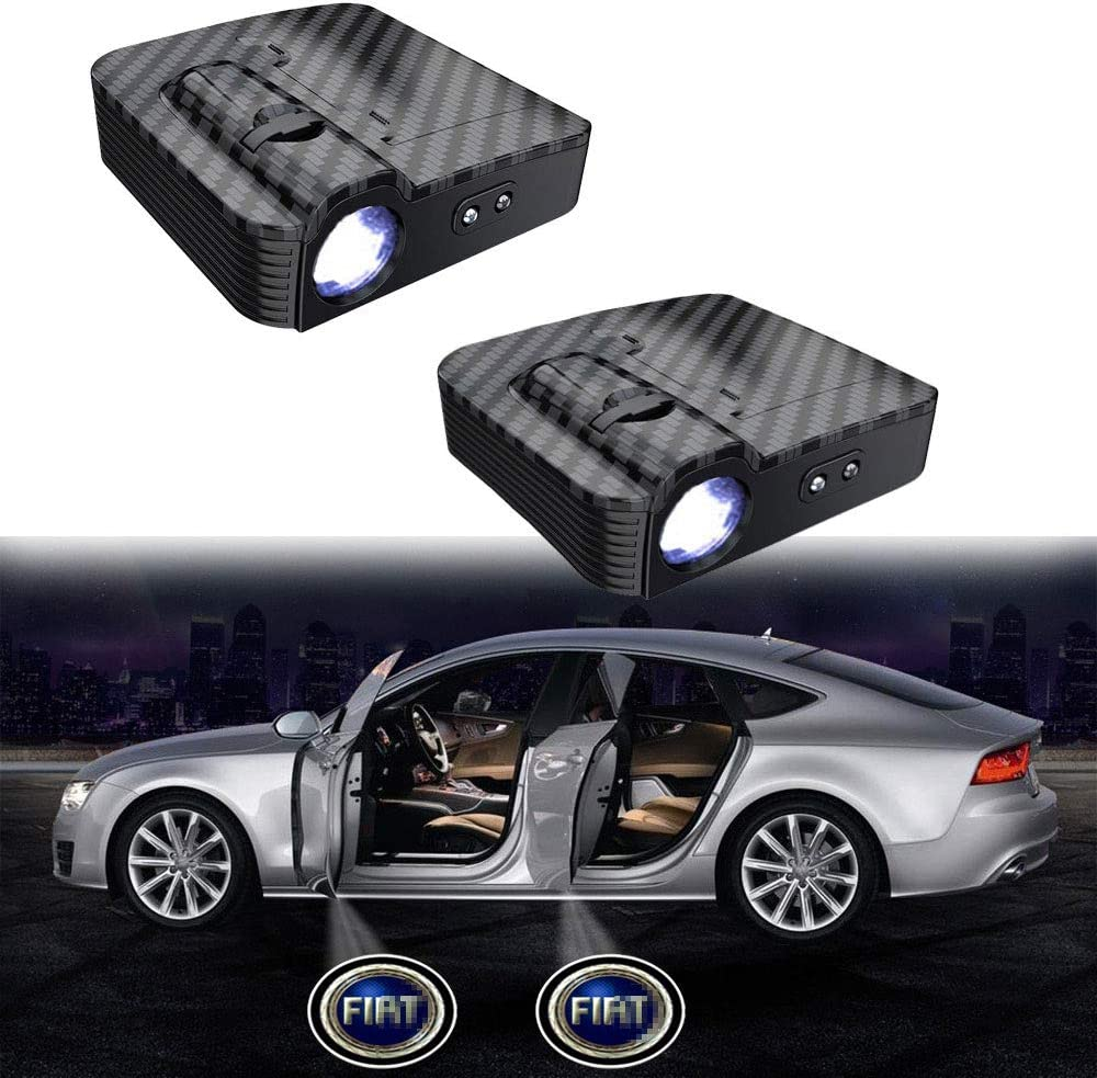 MIVISO Upgraded Car Door Led Logo Projector Light No Magnet Wireless Lamp Welcome Ghost Shadow Light 2PCS