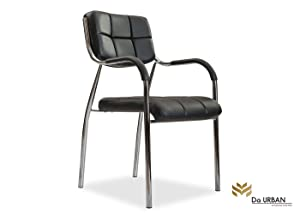 Da URBAN Barfi Fixed Chair with Arms (1 Pc) (Black) ISO & BIFMA Certified