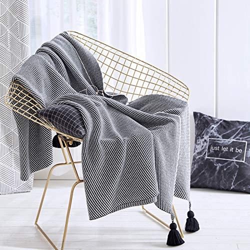 Carpet Home Algodón Nordic Lantern Ball Manta de Punto Manta de Lana de Ocio Aire Acondicionado Oficina Manta de receso Manta de sofá Manta de sofá