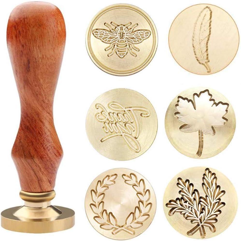 Dylan-EU Personalisiertes Wachssiegel Stempel Wax Seal Stamp Retro Siegelstempel Zum Dekorieren von Umschl/ägen Gru/ßkarten Partyeinladungen Weinverpackungen und Geschenkverpackungen
