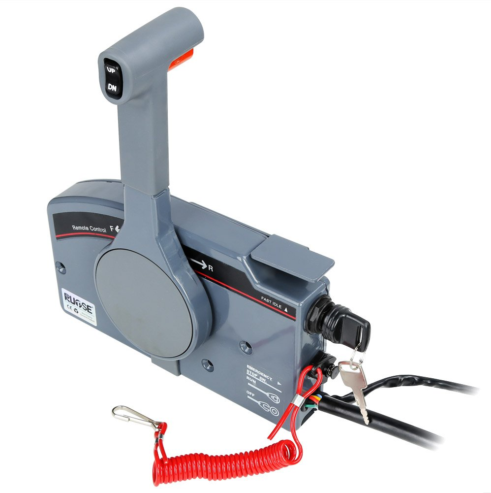 Rupse Outboard Remote Control Box Push Open For Yamaha 703 Wiring Diagram With 10 Pin Cable Oem 48205 Sports Outdoors