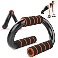 Push Up Bars S-Type Steel Pushup Stands with Comfortable Foam Grip and Non-Slip Bars, Fit for Home Gyms Strength…