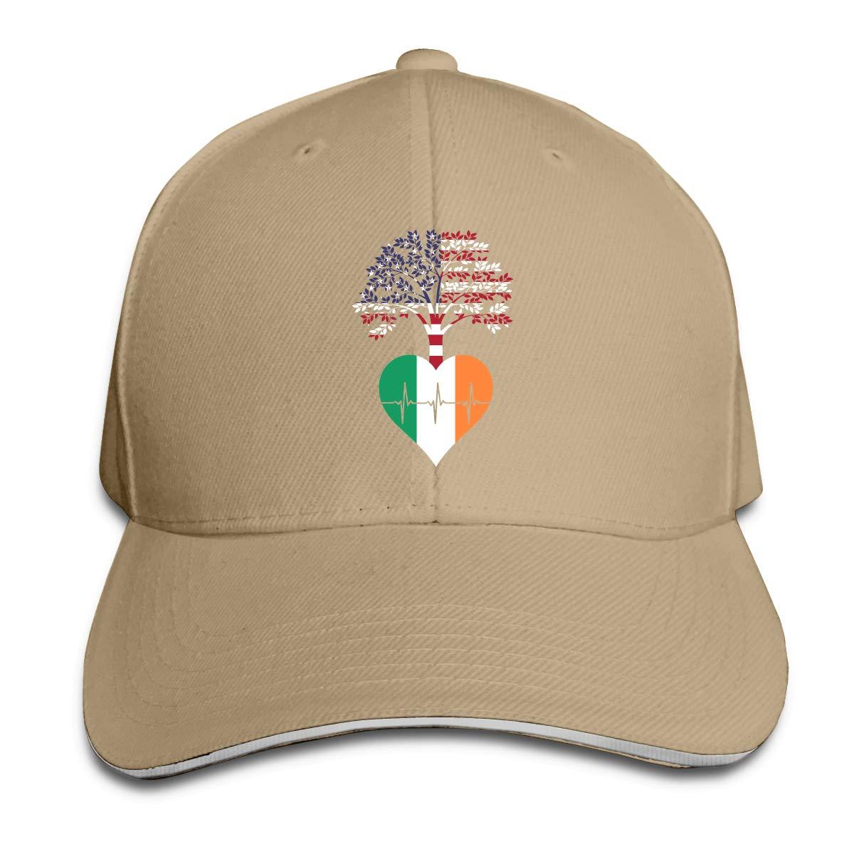 WFIRE Adult Baseball Caps Ireland US Root Heartbeat Custom Adjustable Sandwich Cap Casquette Hats