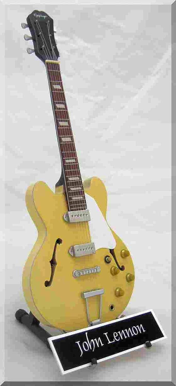 Amazon Com Izzi John Lennon Miniature Guitar Casino Natural With Name Plate