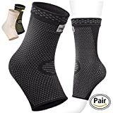 Pure Support Ankle Brace Sleeves with Best Compression - Effective Foot Pain Relief from Heel Spurs & Plantar Fasciitis - One Pair Socks for Womens, Men & Kids - Comfortable Fit & Highly Breathable