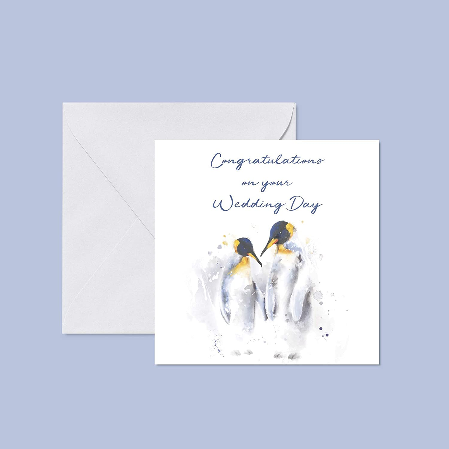 Congratulations on your wedding day Greetings Card Original Art